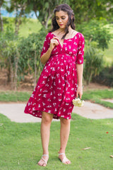 Cherry Bloom Maternity & Nursing Dress