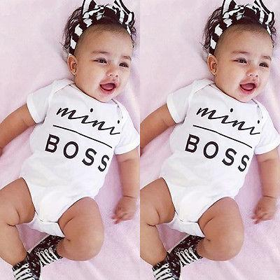 Cute Cotton Mini Boss Baby Romper (0-6 months) - MOMZJOY.COM