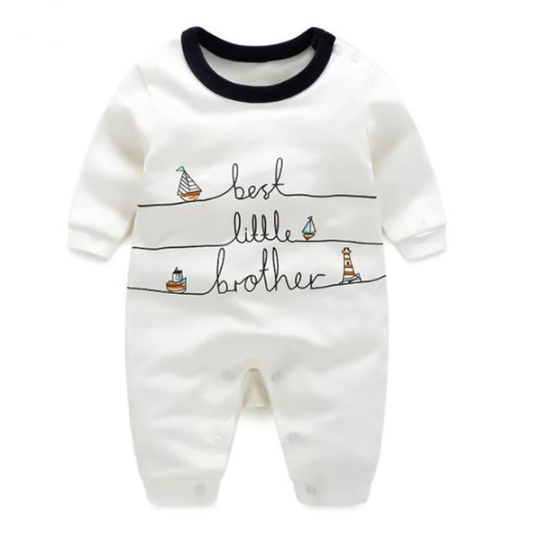 100% Cotton Best Little Brother Baby Romper (0-3 months) - MOMZJOY.COM