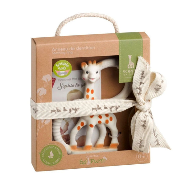Sophie La Girafe So'Pure Two Ring Teether  (100% Natural Rubber)