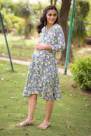 Pacific Floral Maternity & Nursing Dress - MOMZJOY.COM