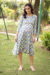 Pacific Floral Maternity & Nursing Dress