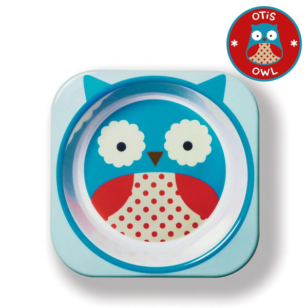 Owl - Zoo Melamine Plate And Bowl Set