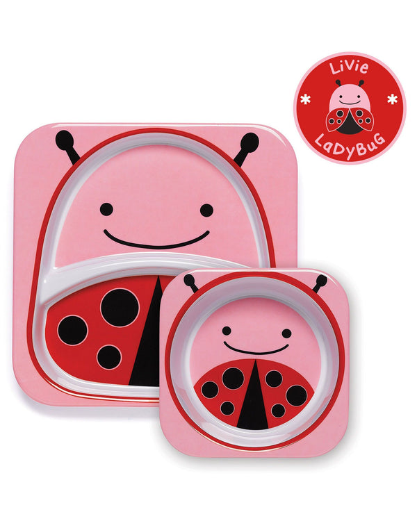 Ladybird -Zoo Melamine Plate And Bowl Set