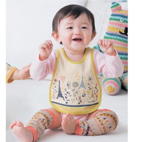 Cotton Paris Baby Drool Bib Cross Stitch Back - MOMZJOY.COM