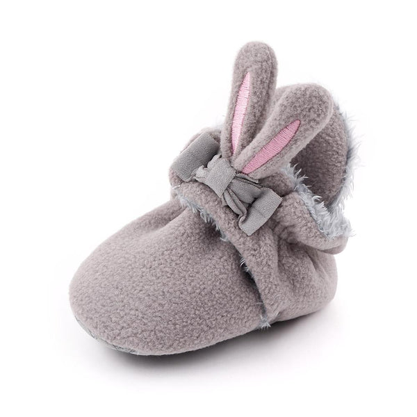 Cute Bunny Grey Booties (0-1 Year)