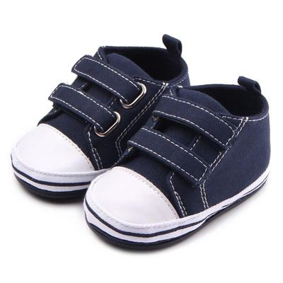 Double Velcro Navy Shoes (0-1 Year)