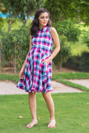 Pink Chestnut Plaid Maternity & Nursing Dress