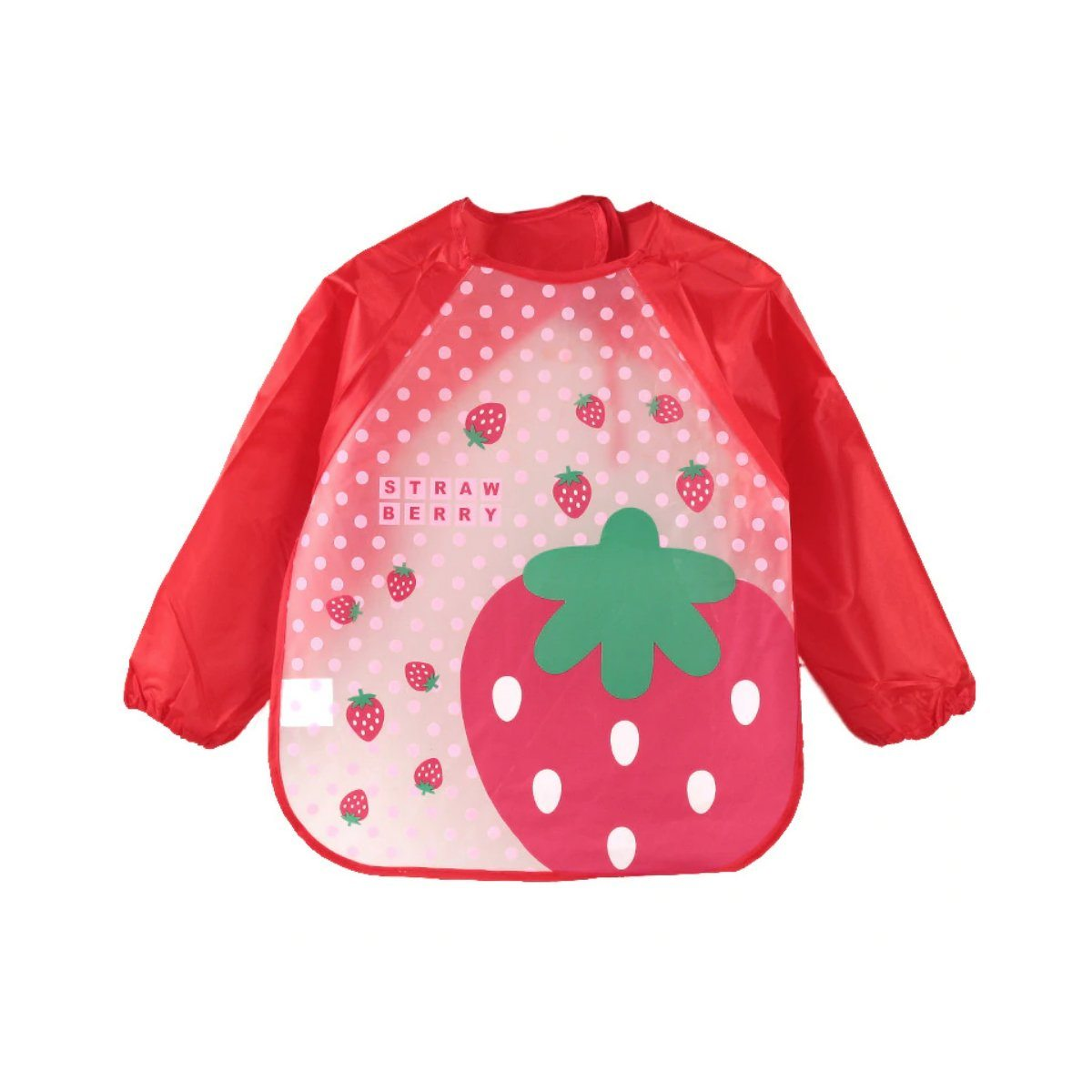 Waterproof Strawberry Toddler Feeding Bib
