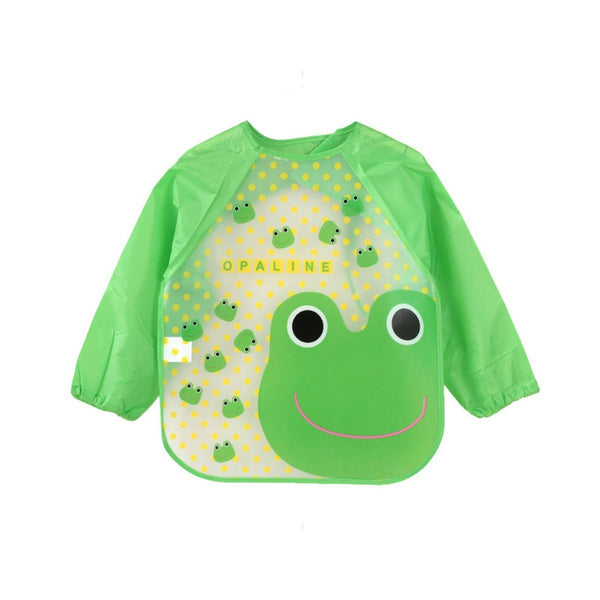 Waterproof Green Froggy Toddler Feeding Bib