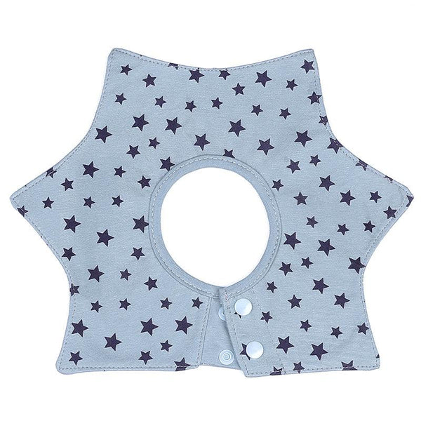 Light Blue Starry Cotton Baby Bib (0-3 years) - MOMZJOY.COM