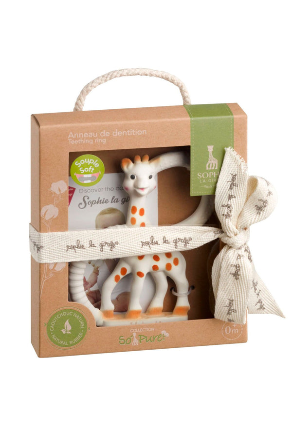 Sophie La Girafe So'Pure Two Ring Teether  (100% Natural Rubber) - MOMZJOY.COM