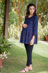 Cherry Pintucks Maternity & Nursing Top