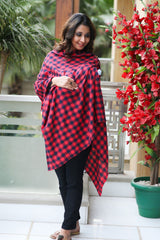 Classic Check  Luxe Nursing Stole