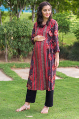 Scarlet Brown Maternity & Nursing Kurta
