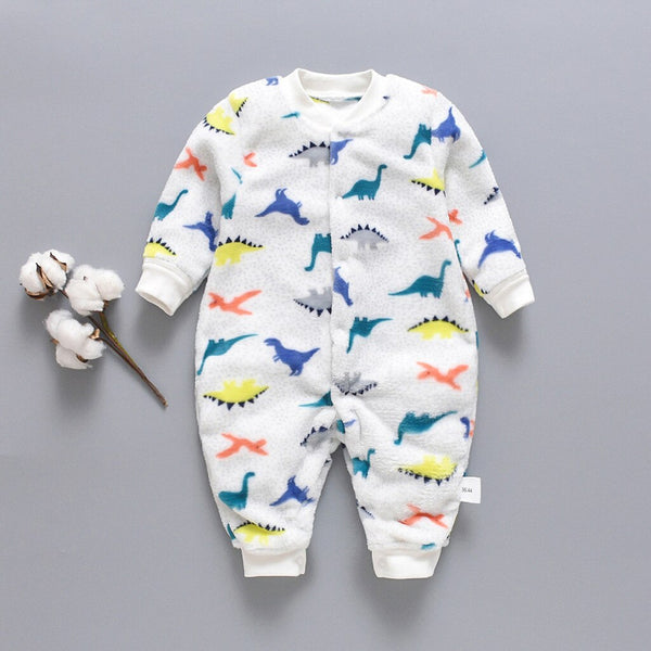 Newborn Infant Kangaroo Print Winter Wear Jumpsuit - MOMZJOY.COM