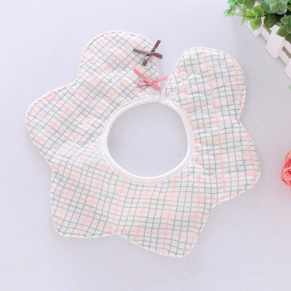 Check Cotton Baby Bib (0-3 years)