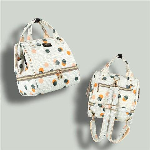 Cute Polka Print Multifunctional Travel Diaper Bag - MOMZJOY.COM