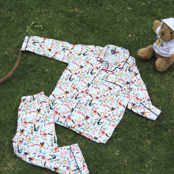Chirpy Bird Night Wear Set (0-8Yrs)