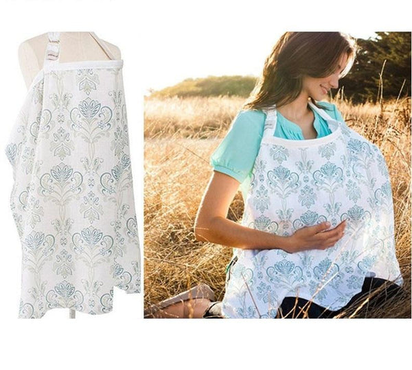 Breathable Gauze Cotton Nursing Cover - MOMZJOY.COM