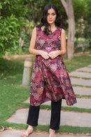 Mocha Embellished Moonflower Nursing Kurta