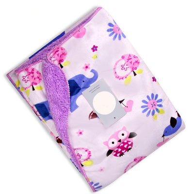 Purple Elephant Owl New Born Baby Blanket