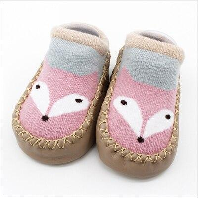 Baby Pink Socks With Sole (1 Pair) - MOMZJOY.COM