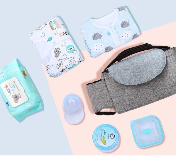 Denim Multifunctional Baby Stroller Organizer Travel Diaper Bag - MOMZJOY.COM