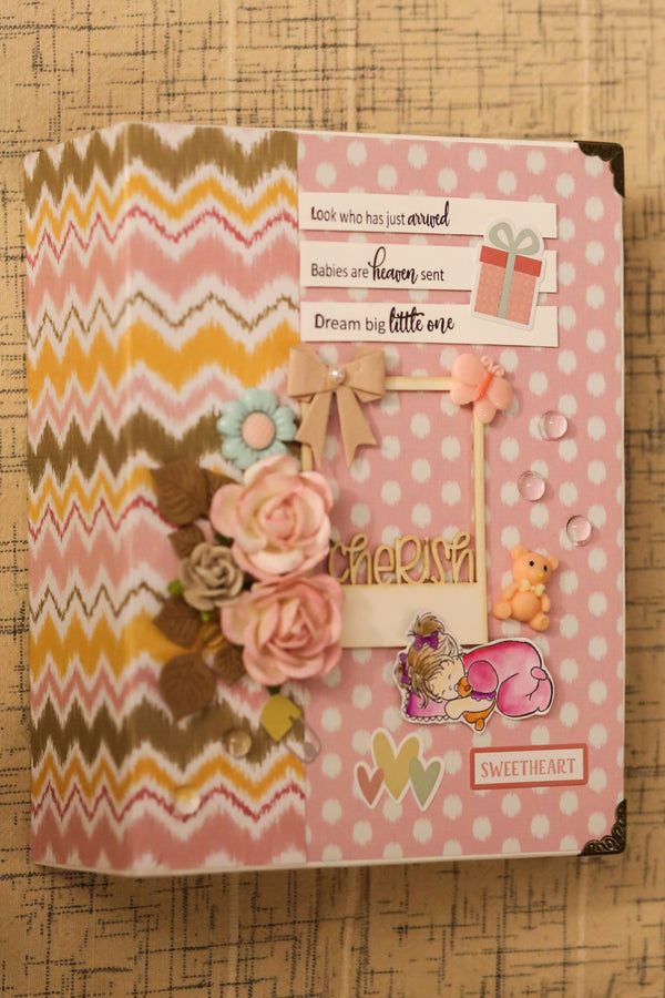 Handcrafted Newborn Baby Girl Book