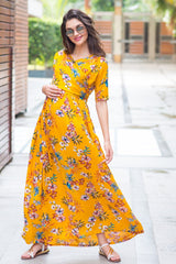 Sunshine Maternity & Nursing Wrap Dress