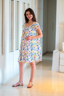 White Comfy Viscose Maternity & Nursing Night Dress