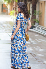 Tropical Leafy Maternity & Nursing Maxi
