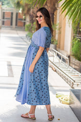 Cotton Sky Polka Maternity & Nursing Wrap Dress - MOMZJOY.COM