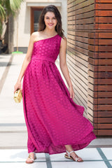 Luxe Berry Side Shoulder Concealed Nursing Maxi