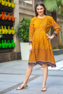 Honey Pleated Maternity & Nursing Kurta Dress - MOMZJOY.COM