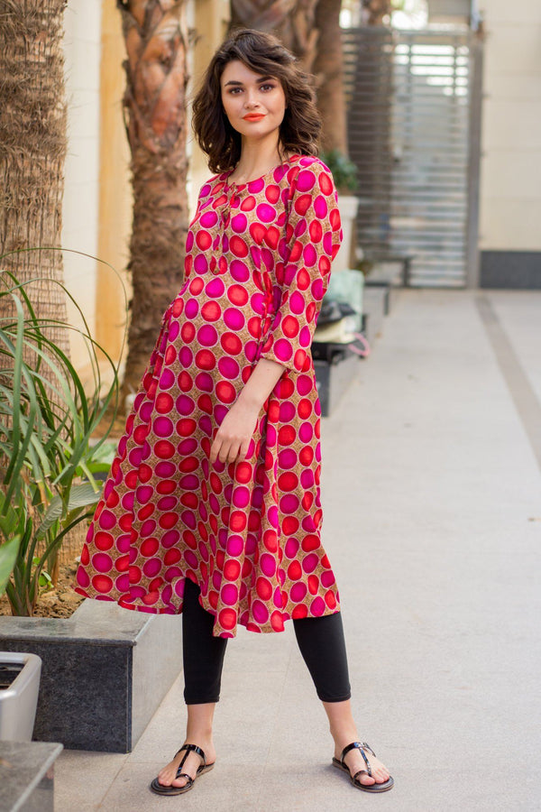 Shades of Pink Maternity & Nursing Kurta