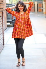 Royal Printed Maternity & Nursing Top