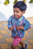 Classy Grey Ikat Shirt(1 yr to 8 years) - MOMZJOY.COM