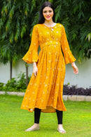 Sunny Paisley Maternity & Nursing Kurta Dress