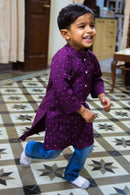 Violet Polka Kurta (1 yr to 8 years) - MOMZJOY.COM