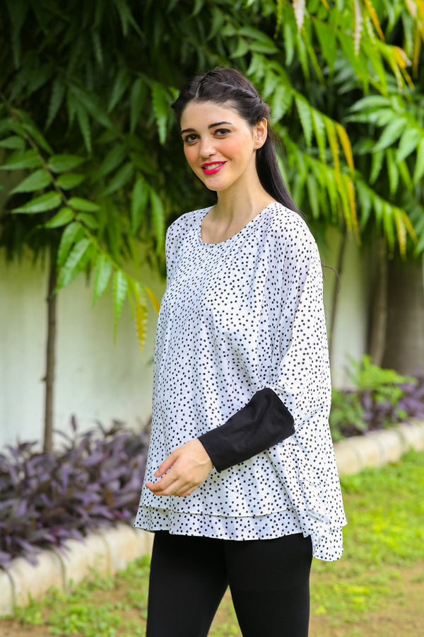Polka Layered Maternity Top