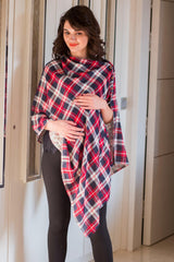 2 in 1 Double Sided Cherry Red Nursing Stole
