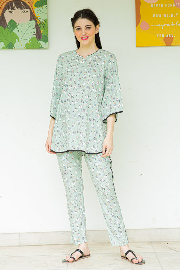 Root Floral Maternity & Nursing Night Suit Set