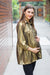 Shimmer Gold Gathered Maternity & Nursing Top - MOMZJOY.COM