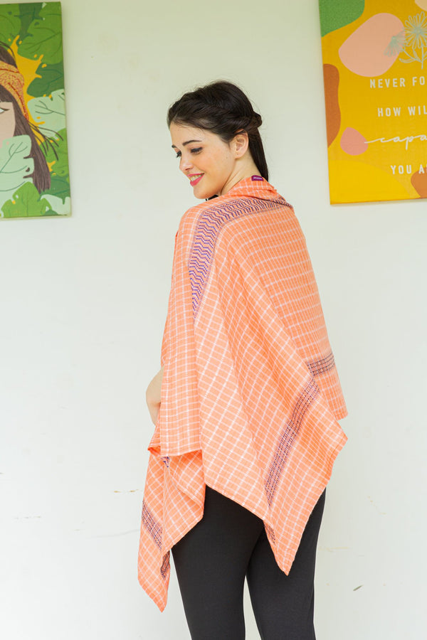 Tangy Striped Cotton Nursing Stole