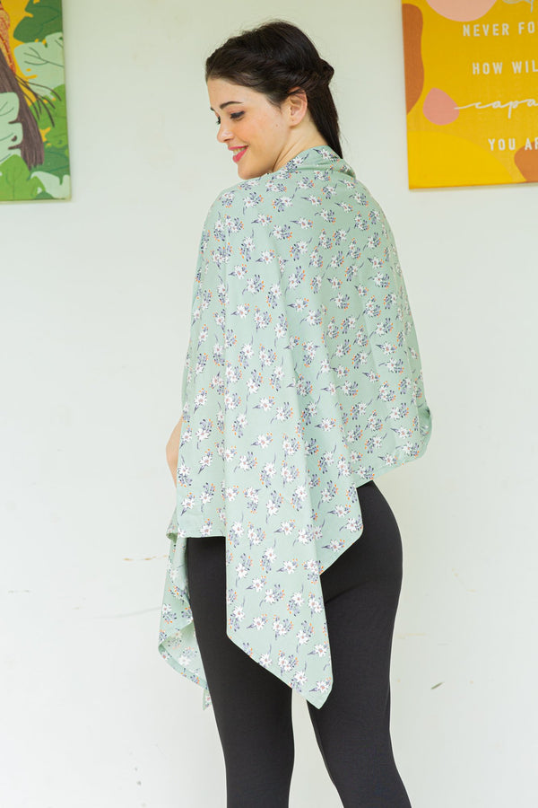 Earthy Floral Nursing Stole