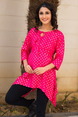 Festive Pink Maternity Top