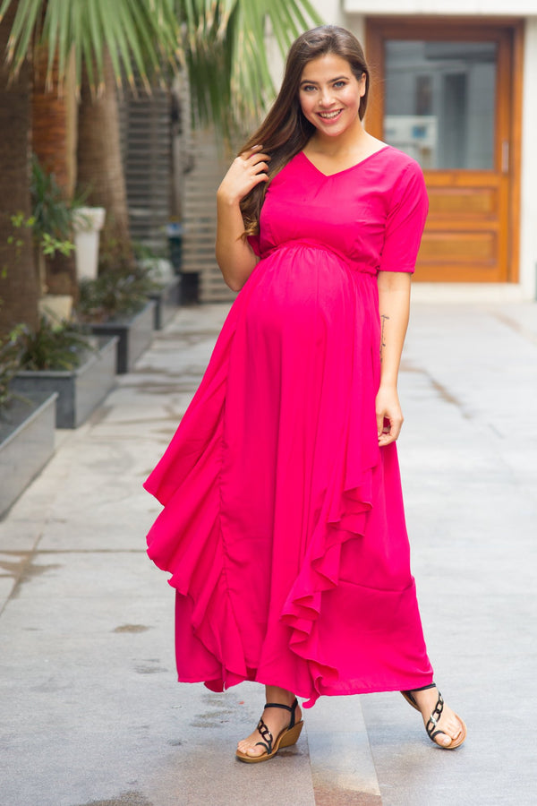 Paris Rose Maternity Flow Dress