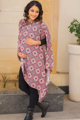 Classic Printed Cotton Nursing Stole - MOMZJOY.COM