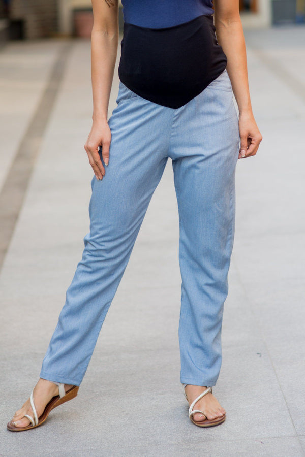 Classic Denim Over Bump Pants - MOMZJOY.COM